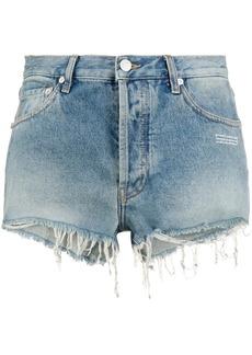 Off-White raw hem denim shorts