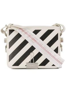 Off-White Diagonal Binder Clip crossbody bag