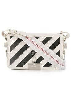 Off-White Diag Binder Clip striped cross body bag