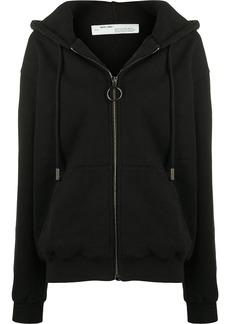 Off-White diagonal stripes hooded jacket