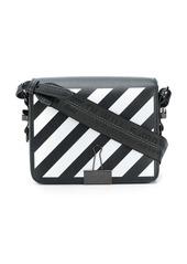 Off-White diagonal binder clip bag