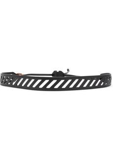 Off-White diagonal cut-out belt