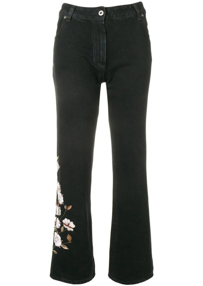 Off-White diagonal flowers jeans