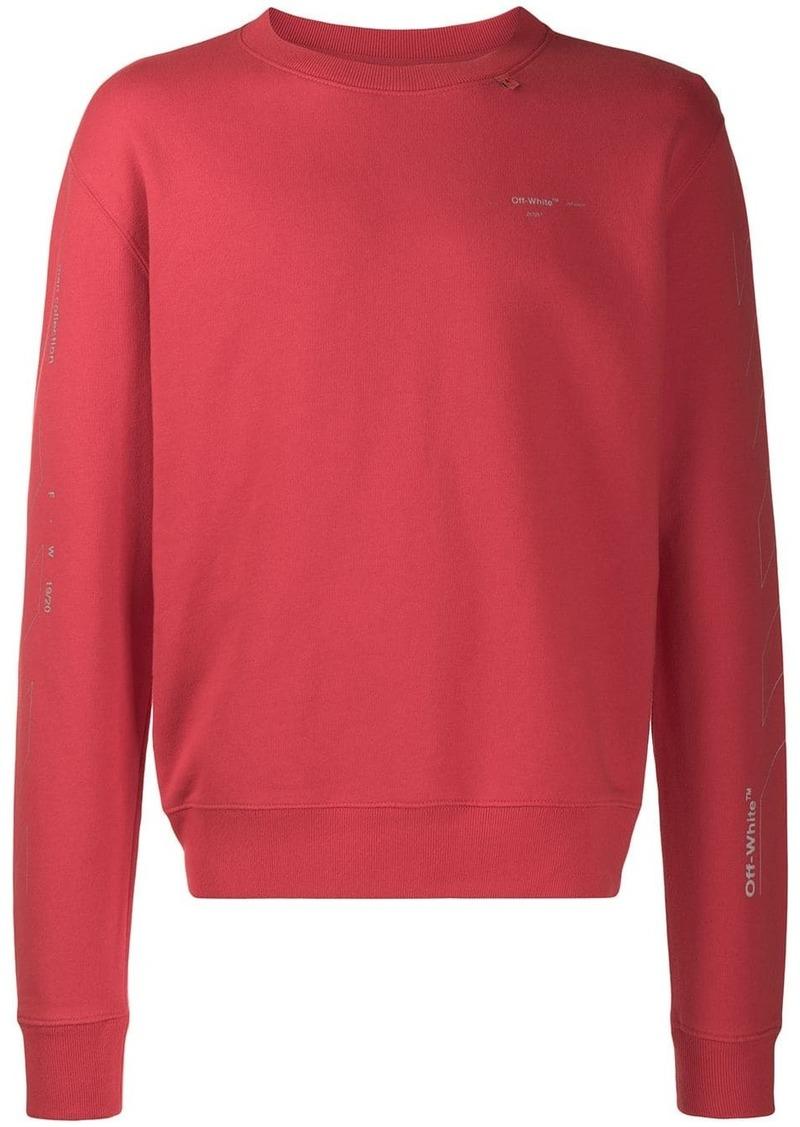 Off-White diagonal print sweatshirt