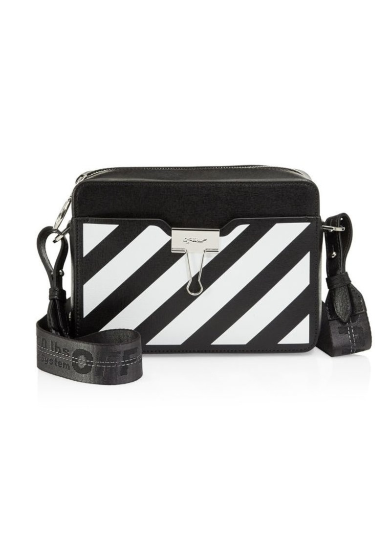 be9a8e2df Off-White Diagonal Stripe Leather Camera Bag | Handbags
