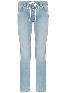 Off-White diagonal stripe-print jeans
