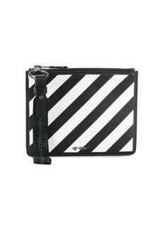 Off-White diagonal stripe zipped pouch
