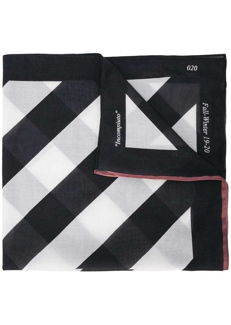 Off-White diagonal striped scarf