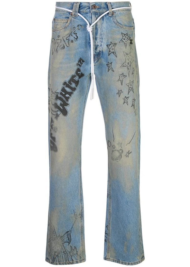 Off-White Diagonal Wizard relaxed fit jeans