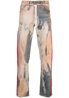 Off-White distressed bleached jeans