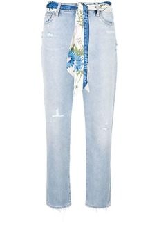 Off-White distressed cropped jeans