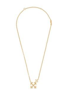 Off-White Double Arrows logo necklace