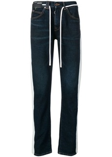 Off-White drawstring slim-fit jeans