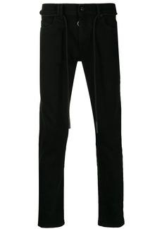 Off-White drawstring slim fit jeans