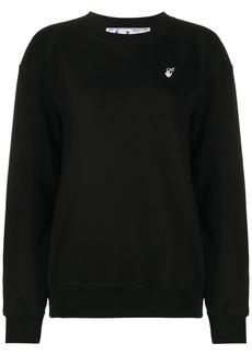 Off-White embroidered Arrow crew neck sweatshirt