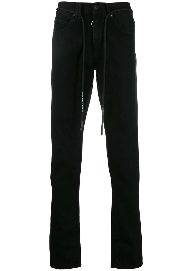 Off-White embroidered arrows logo trousers