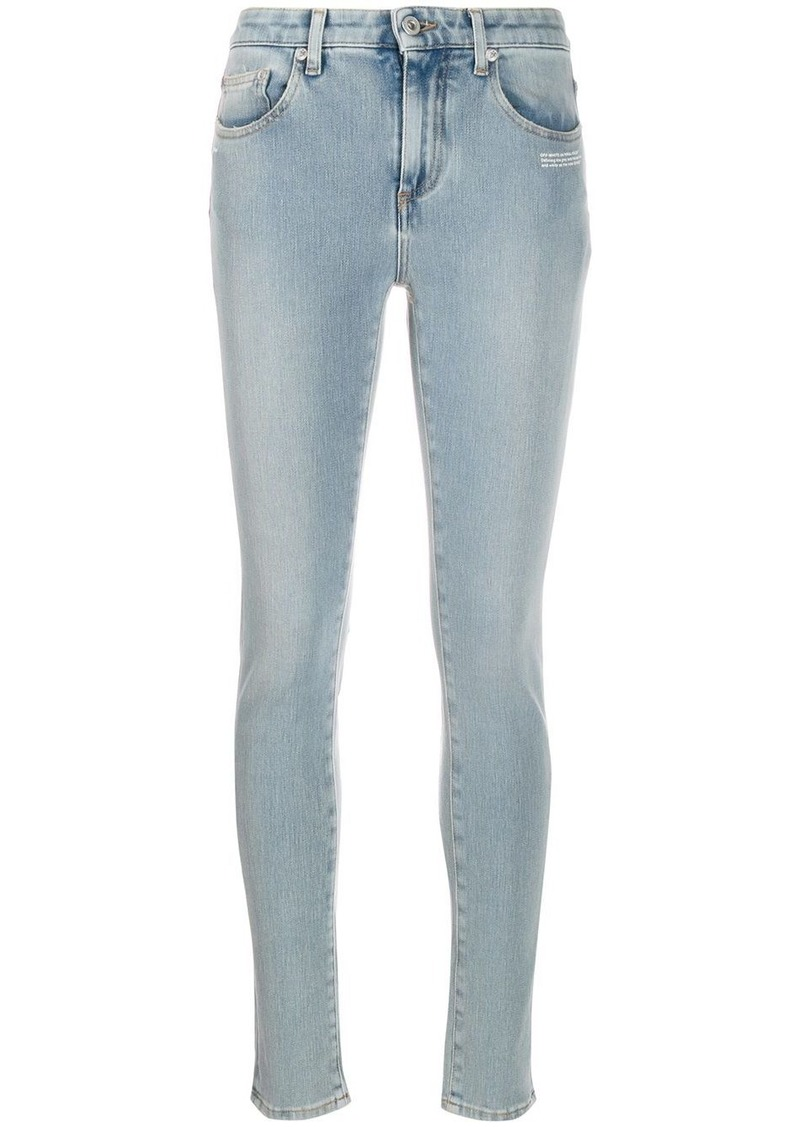 Off-White embroidered details skinny jeans