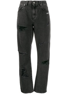 Off-White embroidered jeans