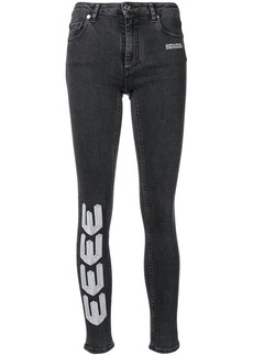 Off-White embroidered skinny jeans