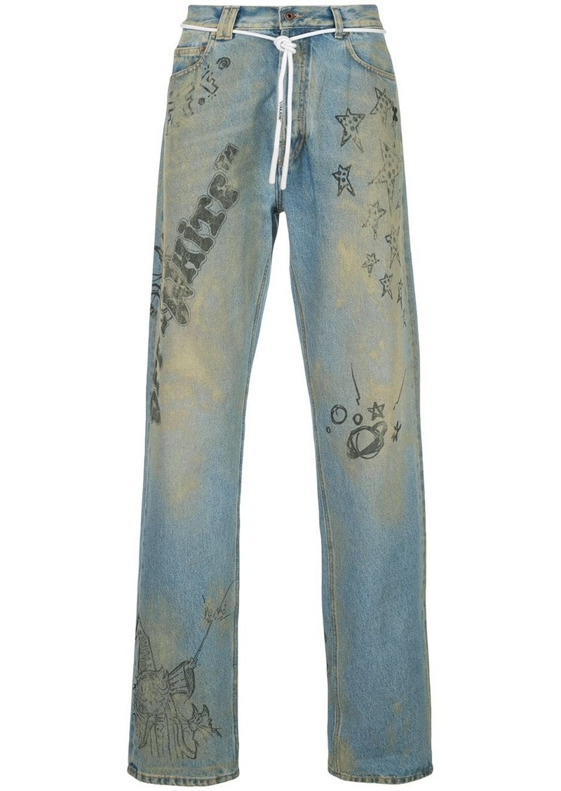 Off-White extreme bleach jeans