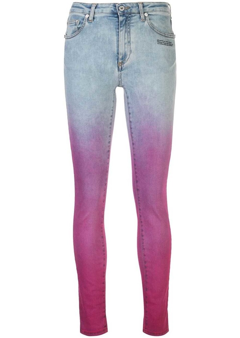 Off-White faded pink jeans