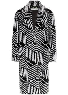 Off-White faux-fur coat