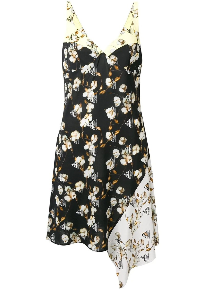 Off-White floral asymmetric dress