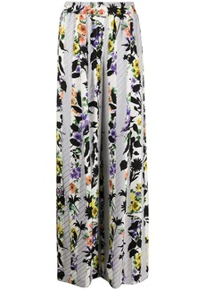 Off-White floral-print palazzo pants