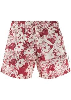 Off-White floral swim shorts