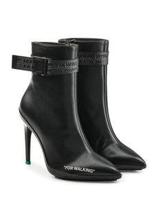 Off-White For Walking Leather Ankle Boots