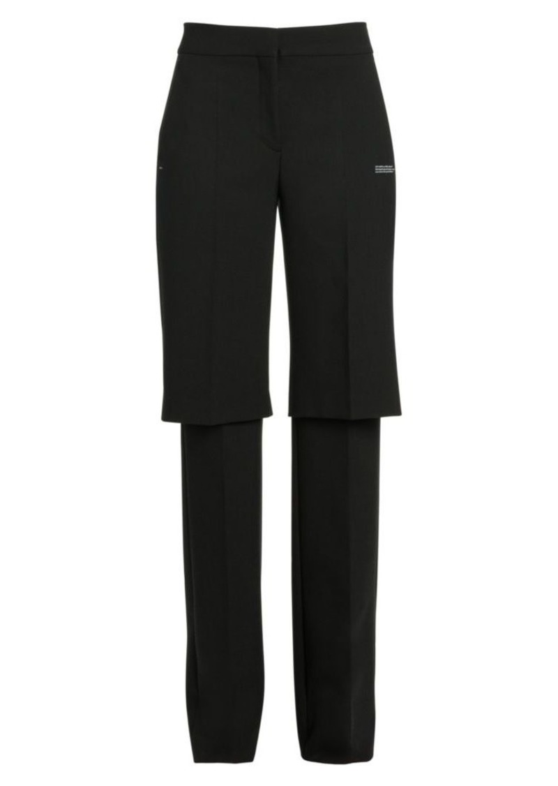 Off-White Formal Double-Layer Trousers