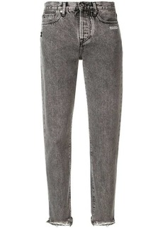 Off-White frayed hem jeans