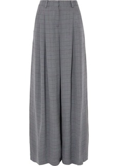 Off-White Galles Checked Woven Wide-leg Pants