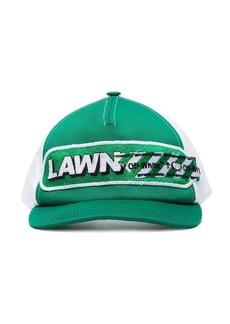 Off-White green lawn girl cotton baseball cap
