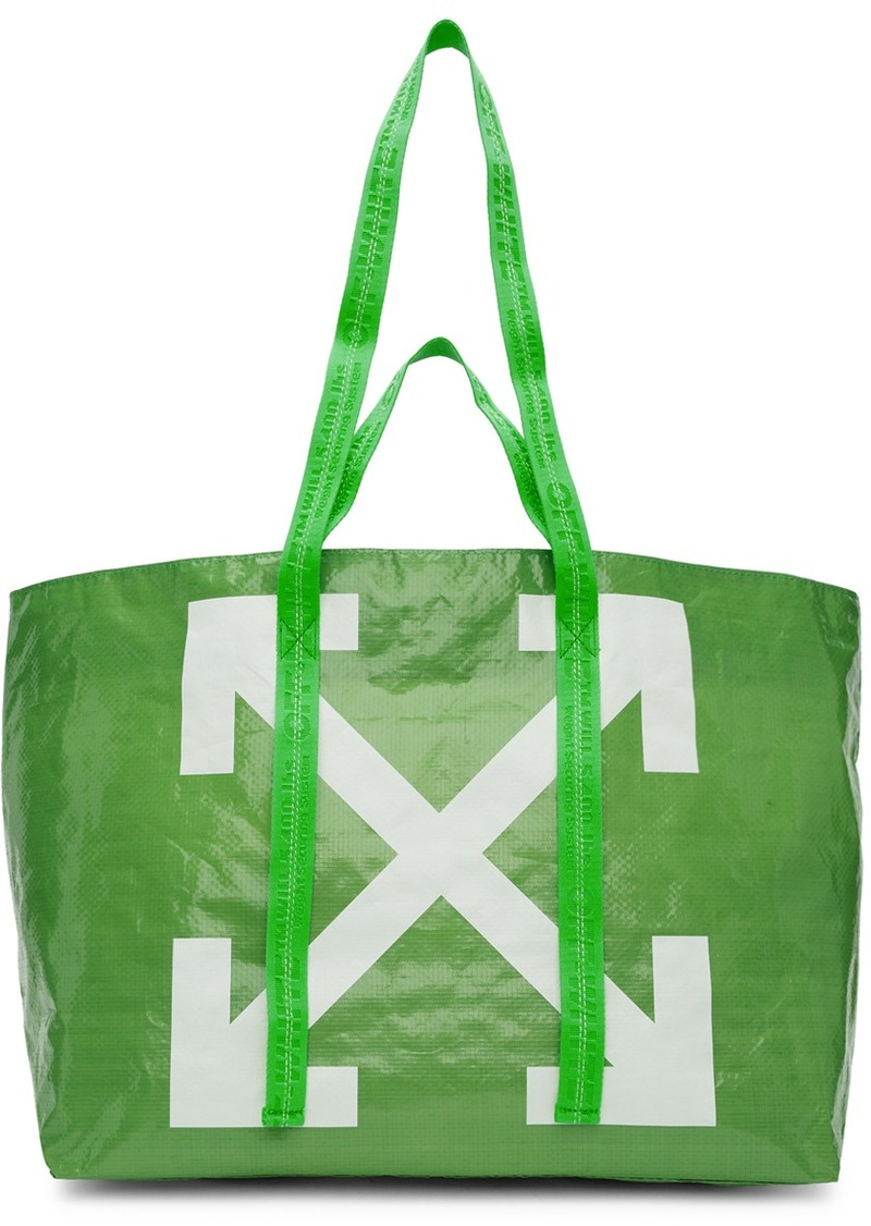 Off-White Green New Commercial Tote