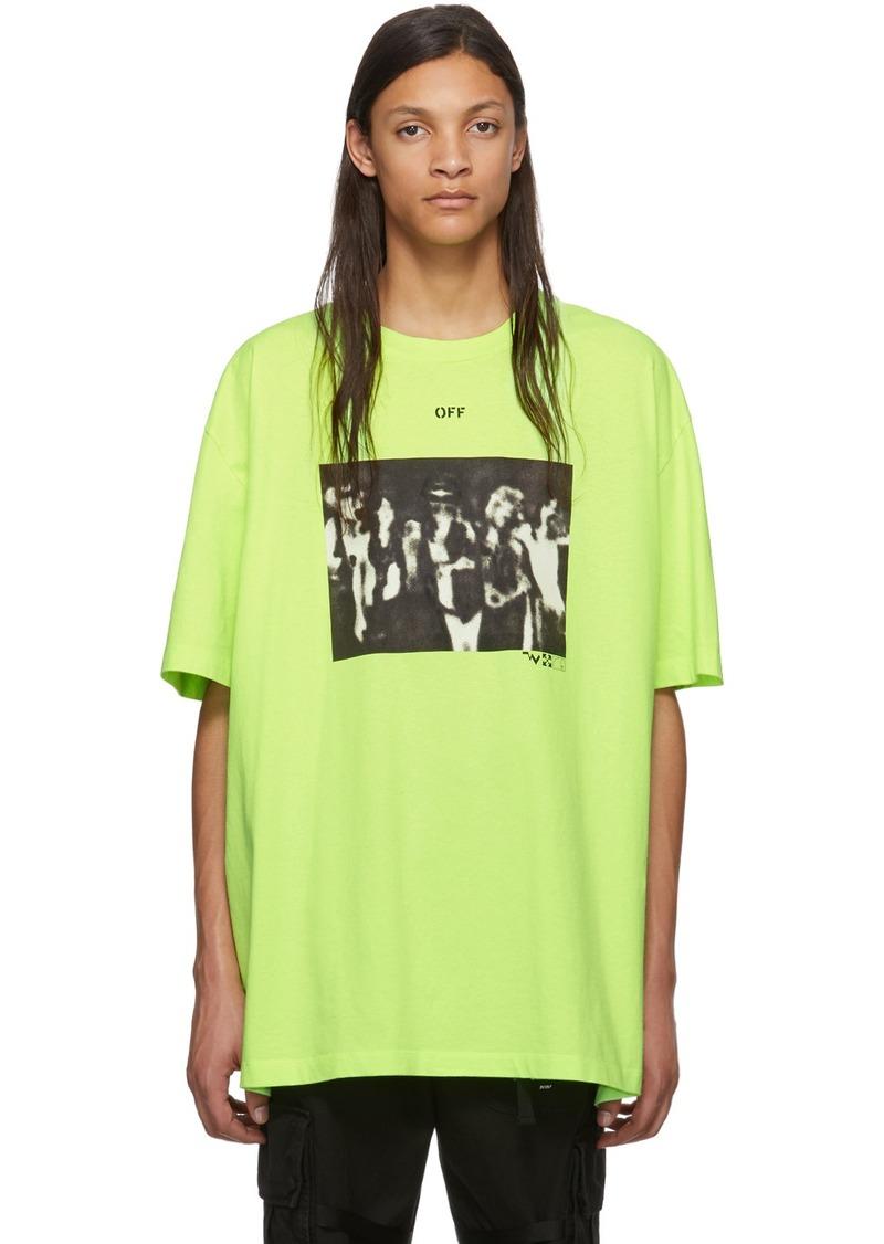 Off-White Green Spray Paint T-Shirt