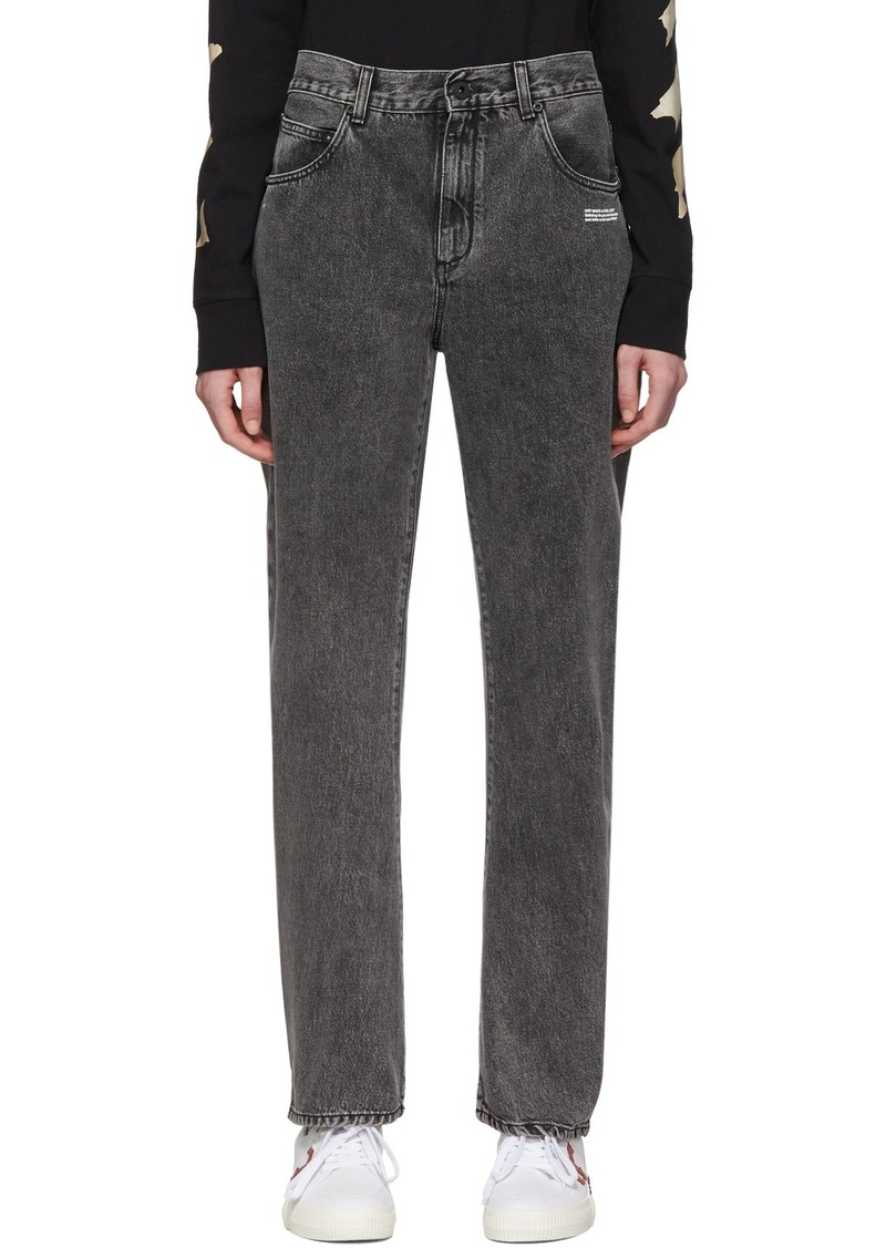 Off-White Grey Washed Baggy Jeans