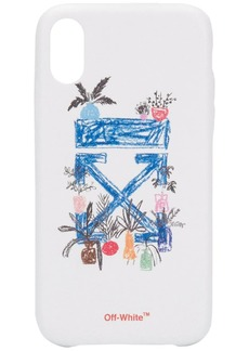 Off-White hand drawn effect iPhone XR case