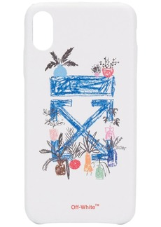 Off-White hand drawn effect iPhone XS MAX case