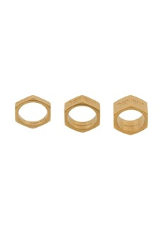 Off-White Hex Nut set of 3 rings