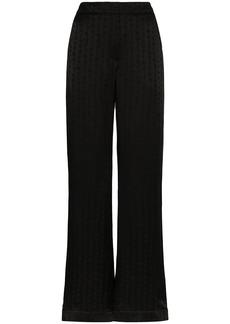 Off-White alphabet-print wide-leg trousers