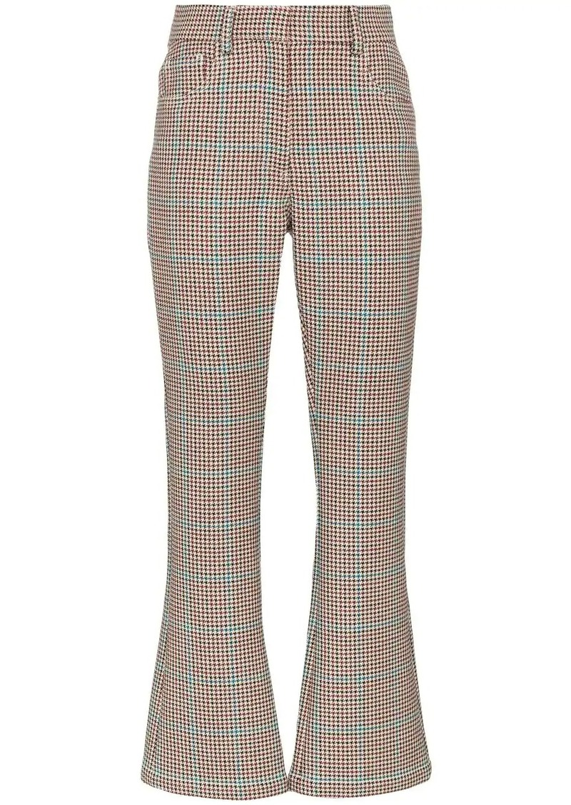 Off-White high-waisted houndstooth trousers