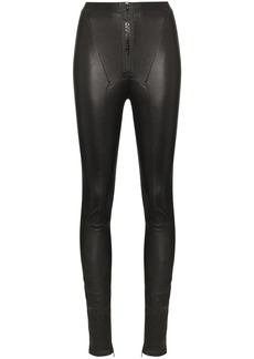 Off-White high-waisted leather leggings