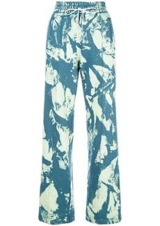 Off-White high-waisted tie-dye track pants