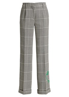 Off-White Houndstooth Embroidered Pants