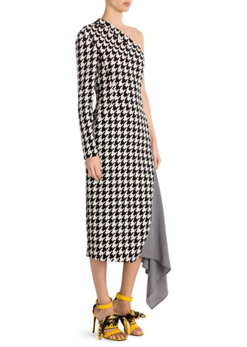 ba07f92d4a8 Off-White Houndstooth One-Shoulder Dress | Dresses