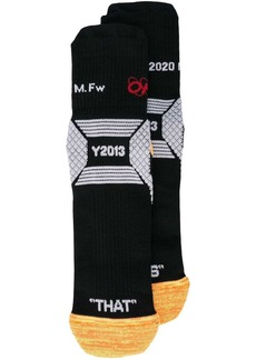 Off-White Industrial Y013 ribbed socks