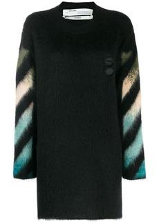 Off-White intarsia crew neck sweater