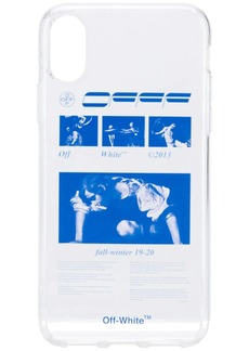 Off-White iPhone X graphic print case