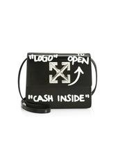Off-White Jitney 0.7 Cash Inside Leather Crossbody Bag